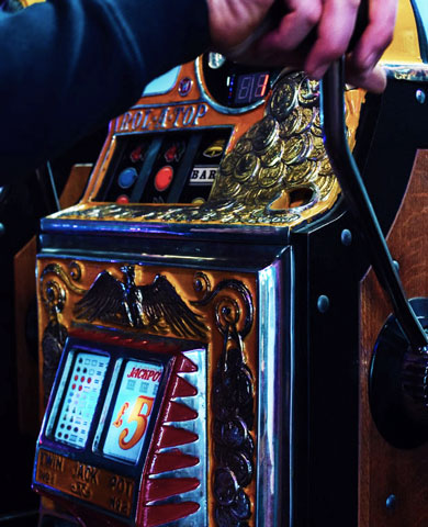 Guy playing slot