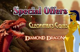 cleopatras coins slots with diamond dragon