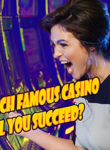 Girl winning in casino slots